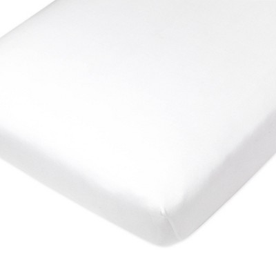 Honest Baby Organic Cotton Fitted Crib Sheet - Bright White