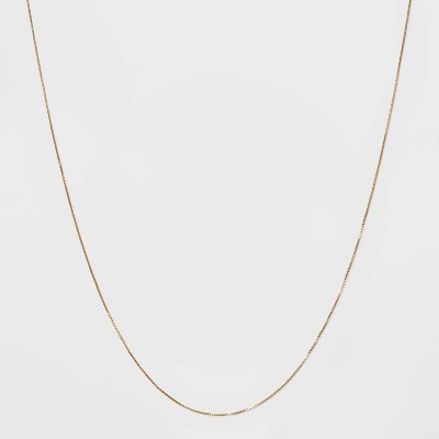 Gold Over Sterling Silver Box Chain Necklace - A New Day™ Gold