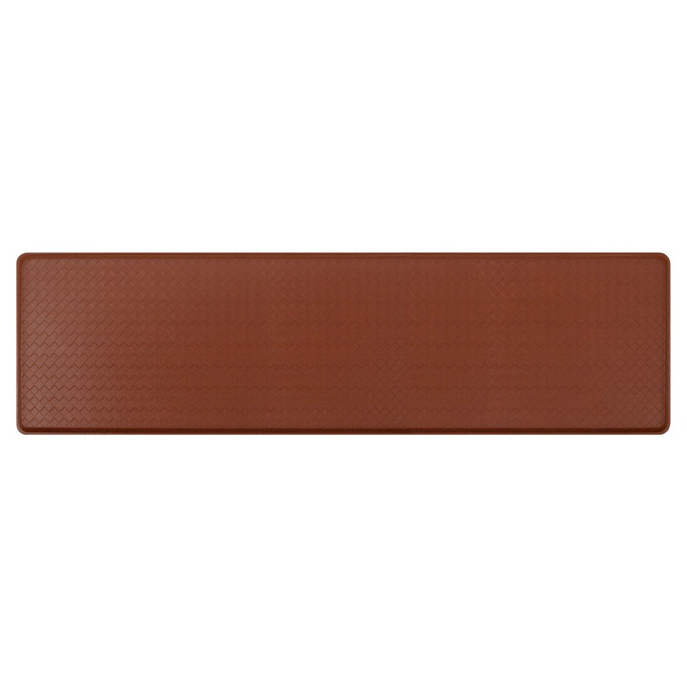 "Image of ""Gelpro Classic Basketweave Comfort Kitchen Mat - Chestnut (Brown) (20""""X72"""")"""
