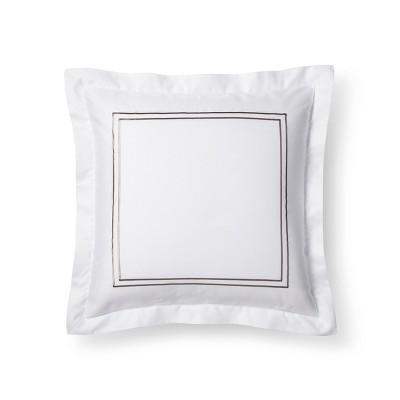 White/ Afternoon Tea Hotel Sham (Euro)- Fieldcrest®