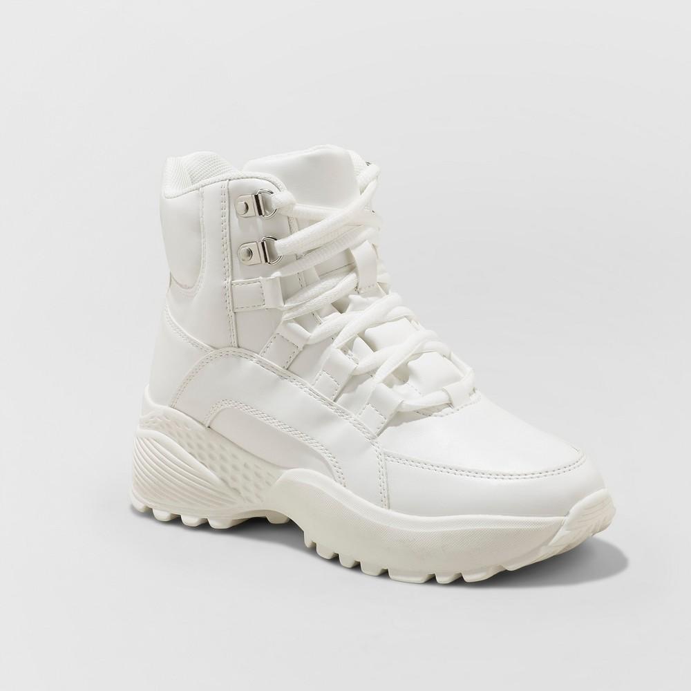 Women's Corene High Top Chunky Sneakers - Wild Fable White 9.5