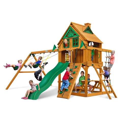 Gorilla Playsets Chateau Treehouse Swing Set With Fort Add On