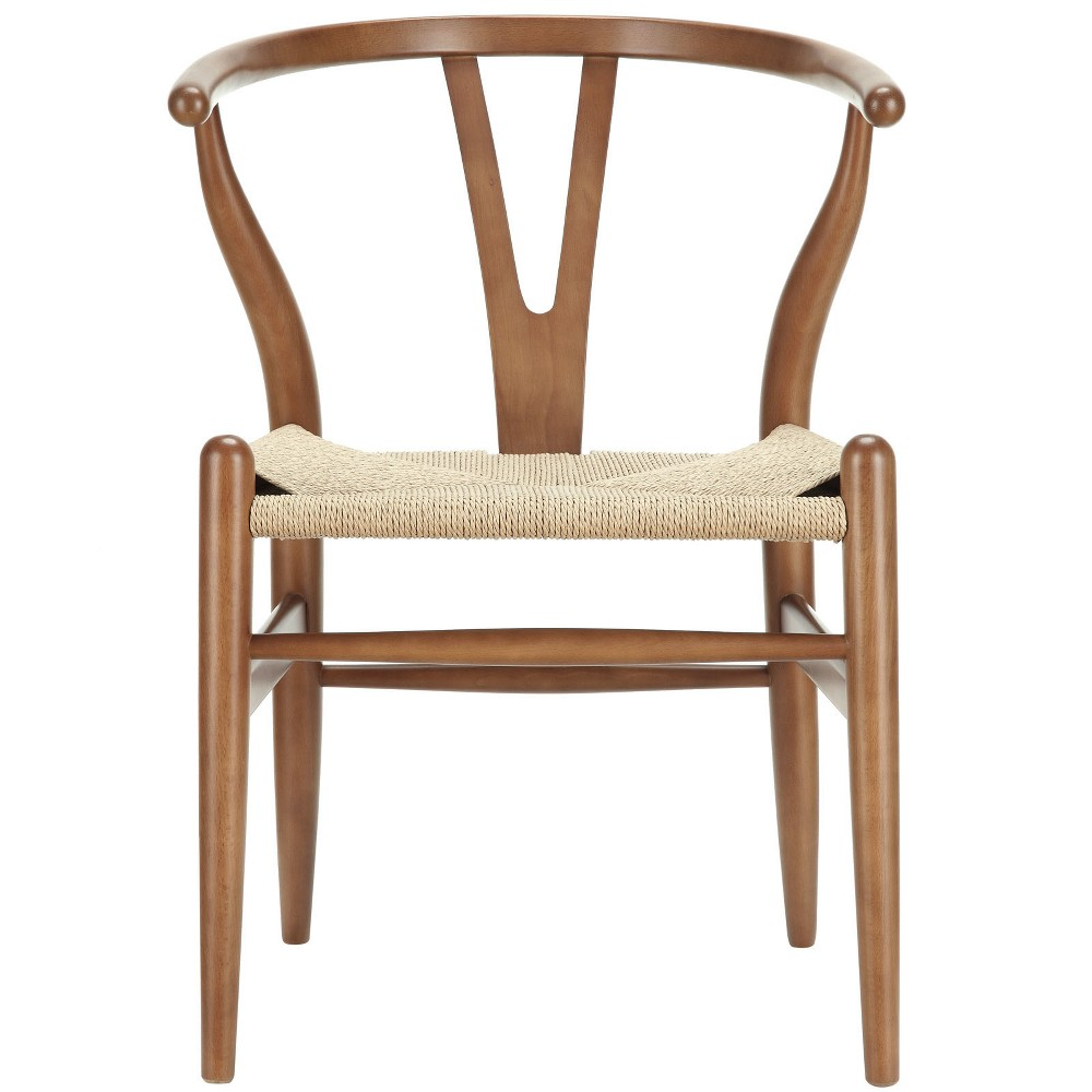 Amish Dining Wood Armchair Walnut (Brown) - Modway