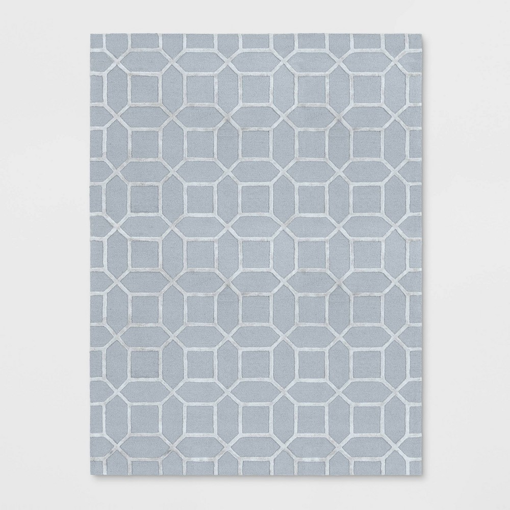 9'X12' Geometric Tufted Viscose Area Rug Gray - Opalhouse was $499.99 now $249.99 (50.0% off)