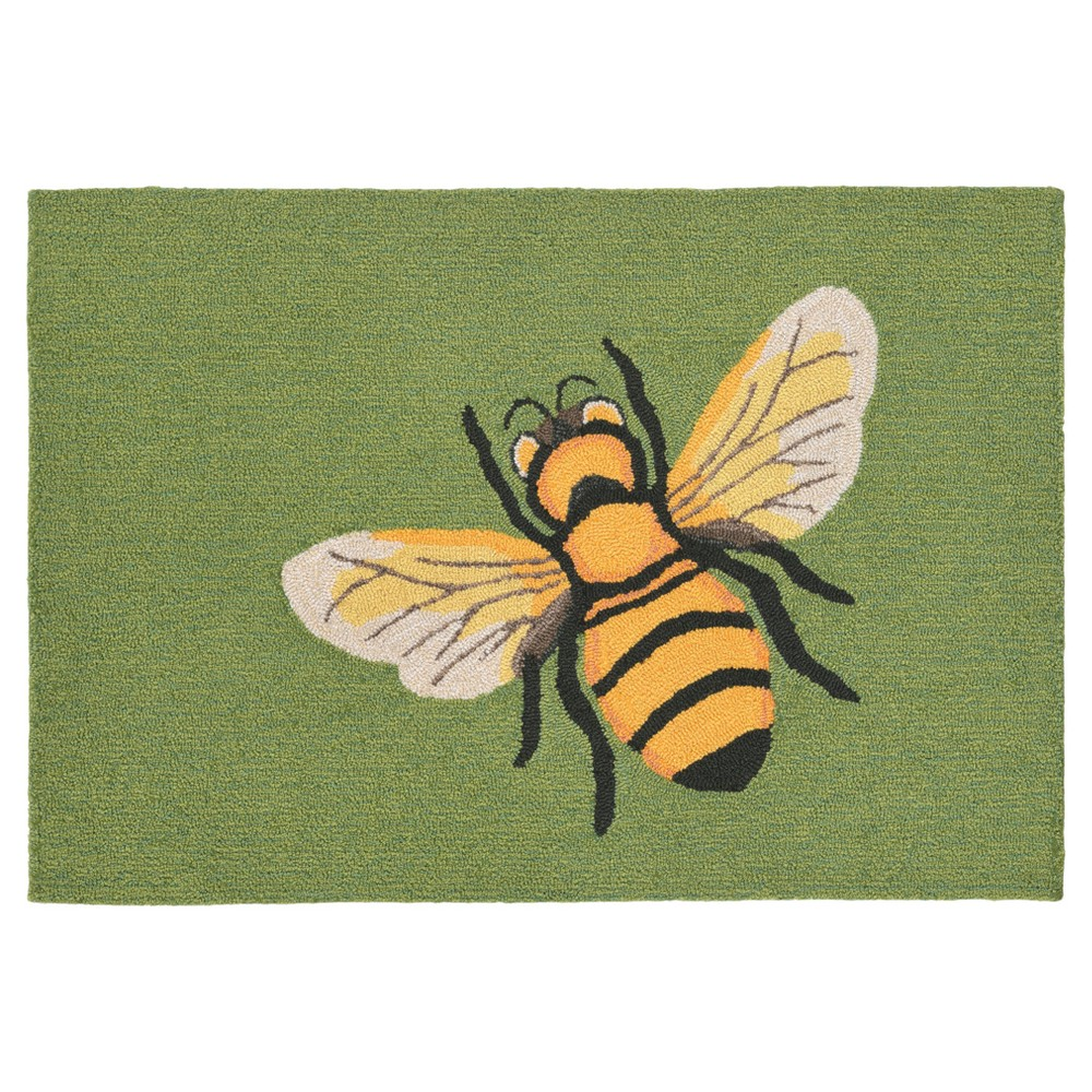 Green Bee Tufted Accent Rug - (2'6X4') - Liora Manne