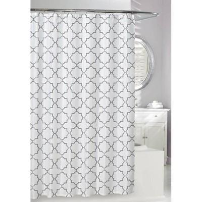 Windsor Shower Curtain Silver - Moda at Home