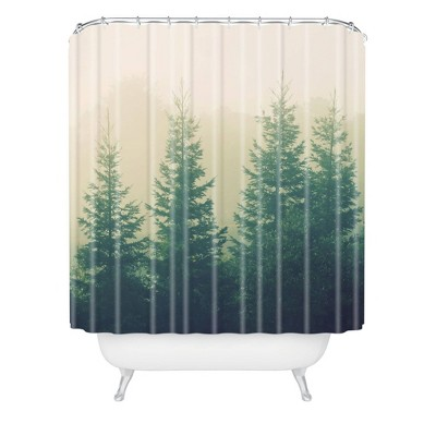 Chelsea Victoria Going The Distance Shower Curtain Green - Deny Designs
