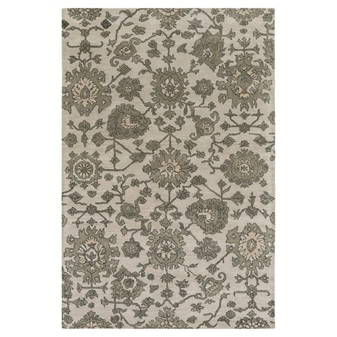 Medium Gray Abstract Tufted Area Rug - (5'x7'6) - Surya - image 1 of 3