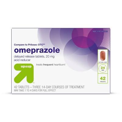 Omeprazole Delayed-Release Acid Reducer - 20mg Tablets - up & up™