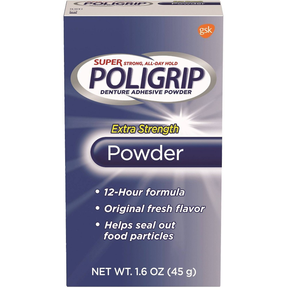 Image of Poligrip Extra Strength Denture Powder - 1.6oz