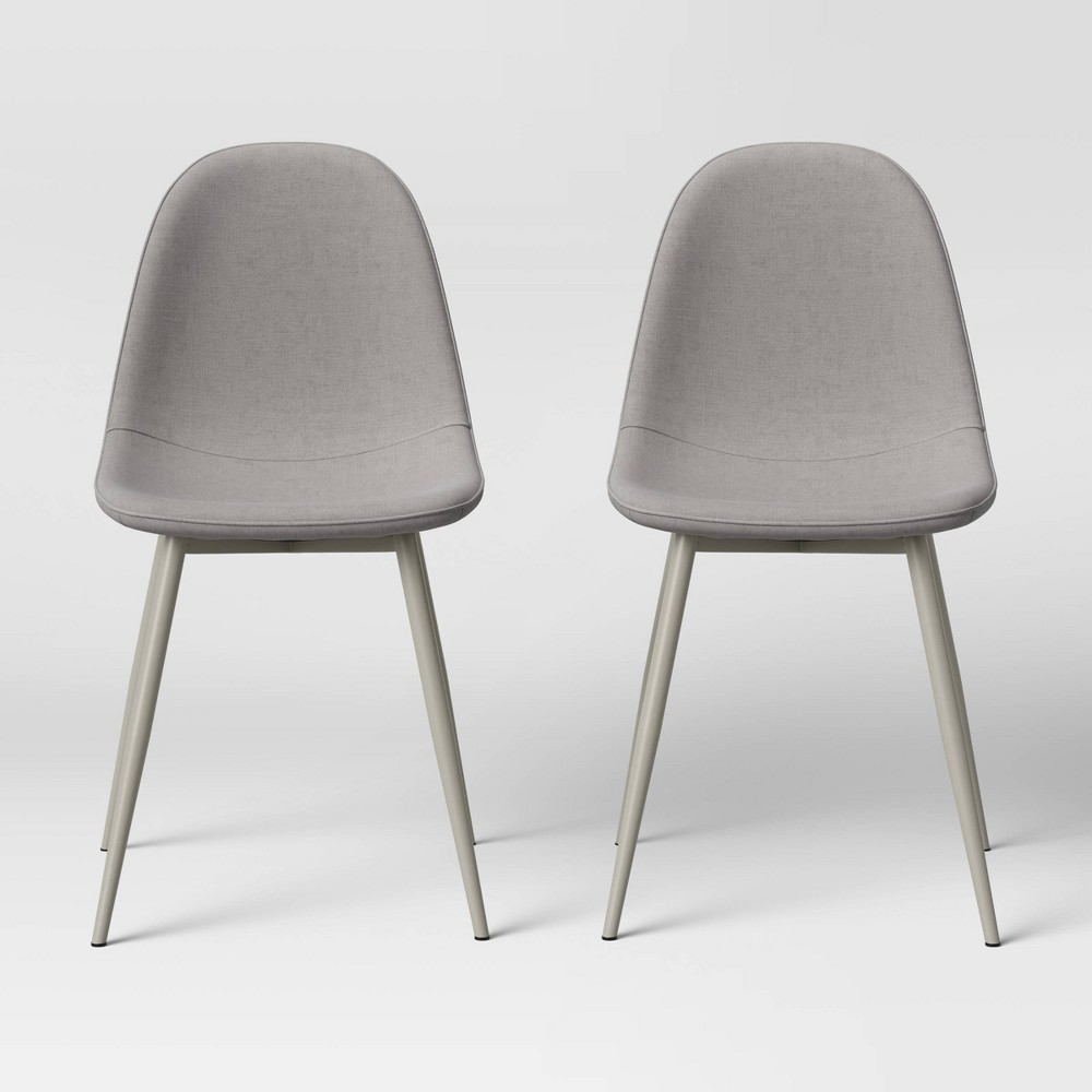2pk Copley Upholstered Dining Chair Tone Gray Project 62 8482