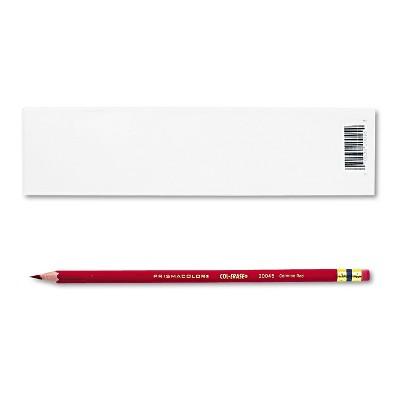 Prismacolor Col-Erase Pencil w/Eraser Carmine Red Lead/Barrel Dozen 20045
