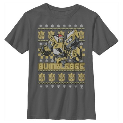 Boy's Transformers Bumblebee Ugly Xmas T-Shirt