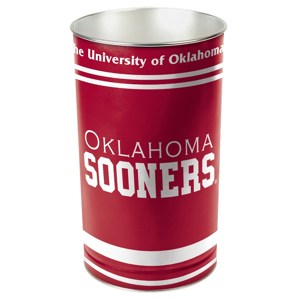 NCAA Oklahoma Sooners Tall Waste Basket