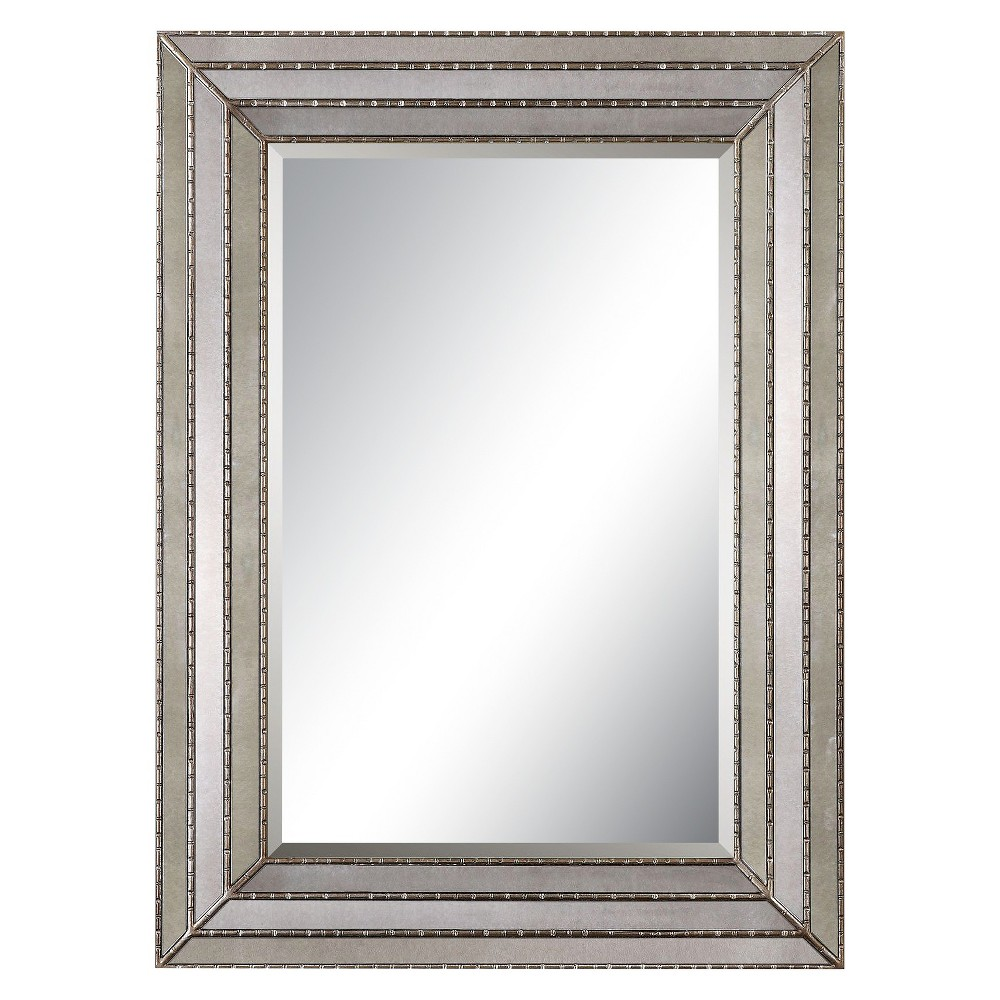 Image of Rectangle Seymour Antique Decorative Wall Mirror Silver - Uttermost