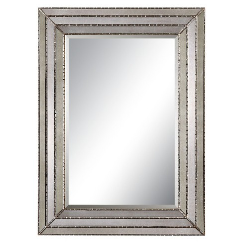 Rectangle Seymour Antique Decorative Wall Mirror Silver - Uttermost - image 1 of 1
