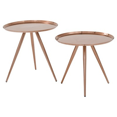 Tiffany Side Table, 2pk-Copper - Office Star Products