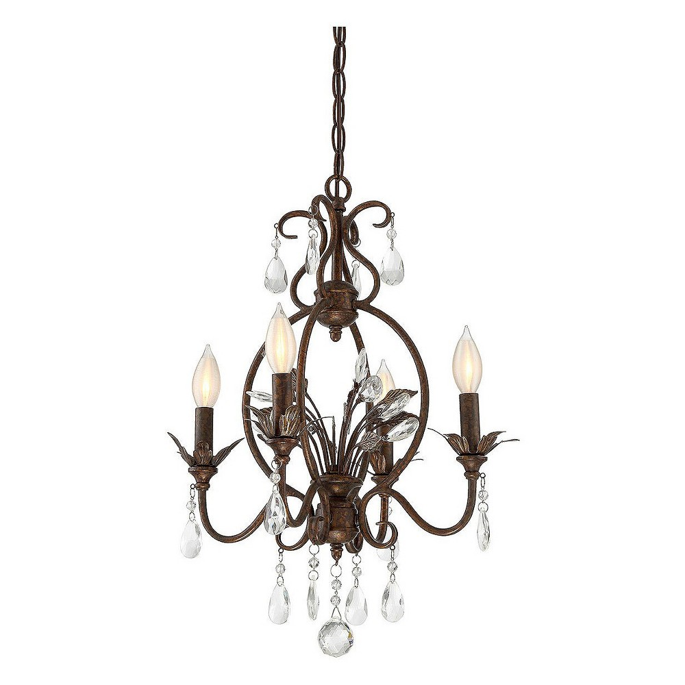 Bronze Pebble with Silver Mini Chandelier (Set of 3) - Filament Design