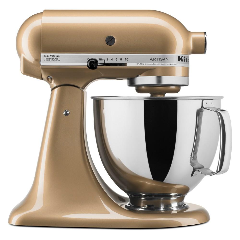 KitchenAid Refurbished 5qt Artisan Stand Mixer Champagne (Beige) – RRK150CZ 53960984
