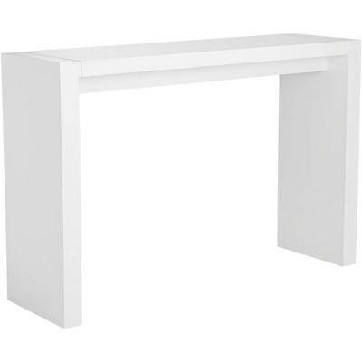 "Studio 55D Velia 60"" Wide High-Gloss White Modern Bar Table"