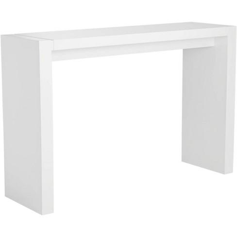 "Studio 55D Velia 60"" Wide High-Gloss White Modern Bar Table - image 1 of 3"