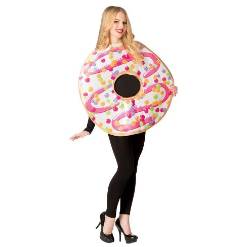 Women's White Frosted Donut Halloween Costume One Size - image 1 of 3