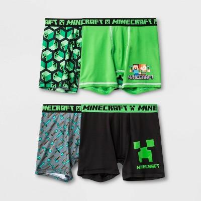 Boys' Minecraft 4pk Underwear