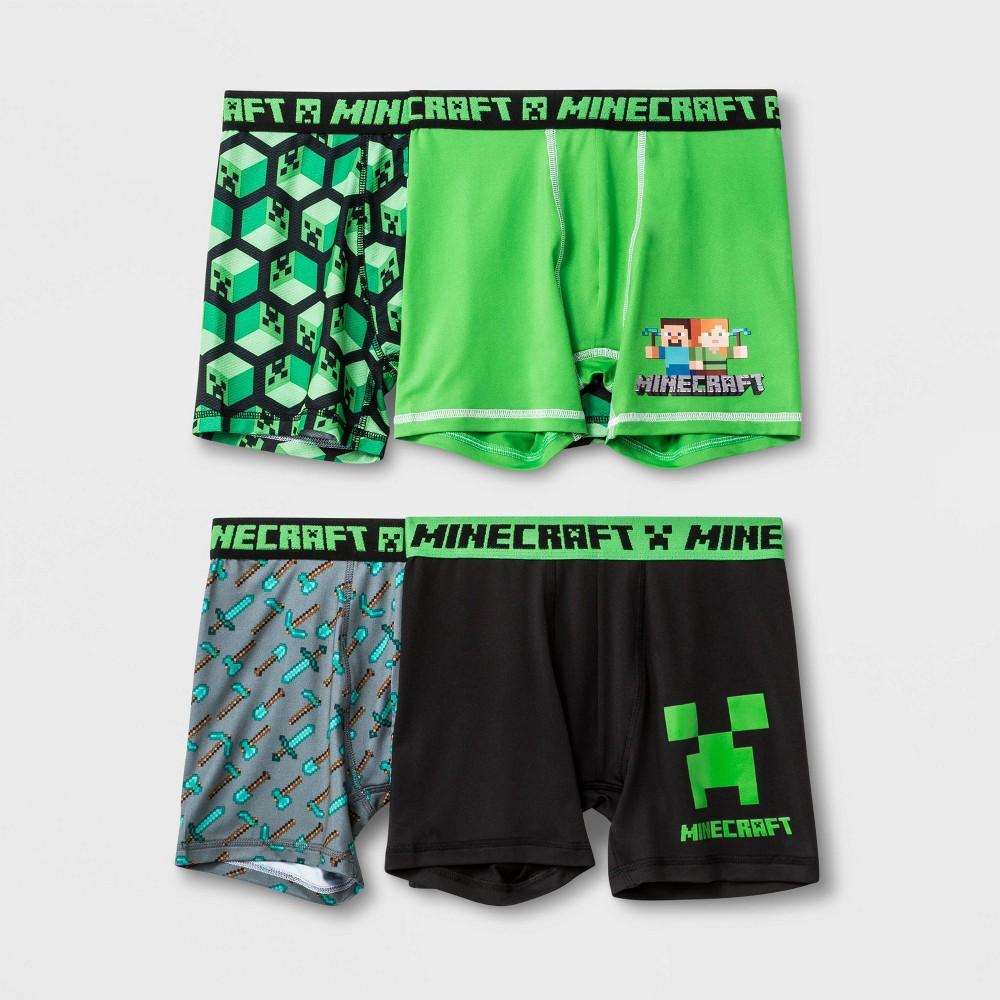 Image of Boys' Minecraft 4pk Boxer Briefs - 10, Boy's, MultiColored