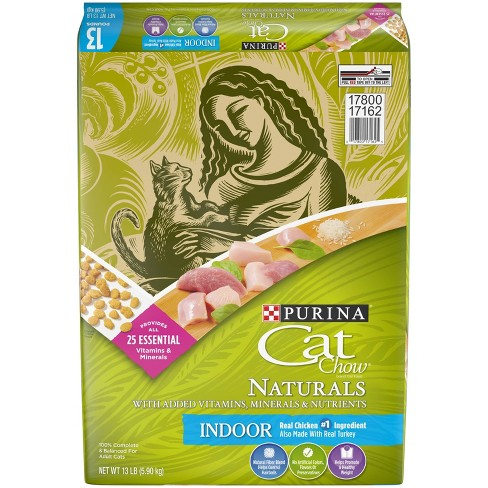 Purina Cat Chow Naturals Indoor With Chicken Adult Complete & Balanced Dry Cat Food - image 1 of 4