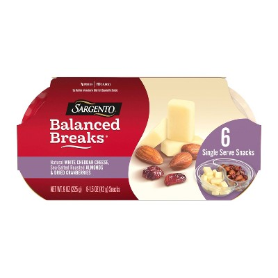 Sargento Balanced Breaks Cheddar with Almonds & Cranberries - 6pk