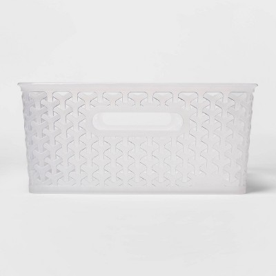 Y-Weave Medium Rectangle Storage Bin Clear - Room Essentials™