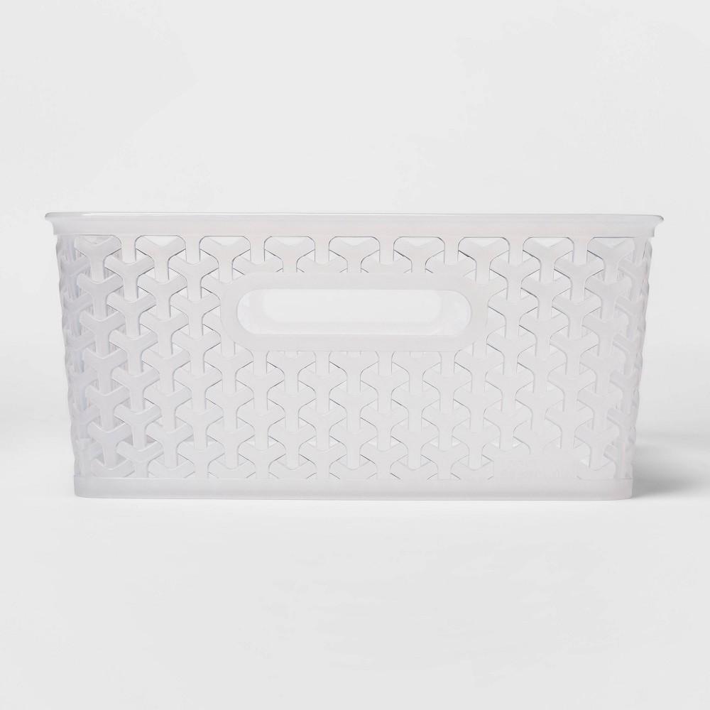 Y Weave Medium Decorative Storage Basket Translucent Room Essentials 8482