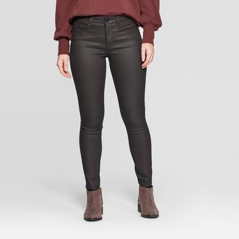 Women's High-Rise Skinny Jeans - Universal Thread™ Burgundy - image 1 of 4