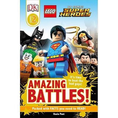 DK Readers L2: Lego(r) DC Comics Super Heroes: Amazing Battles! - (DK Readers Level 2) (Paperback)