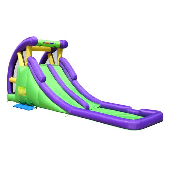 Bounceland Double Water Slide with Splash Pool image number null