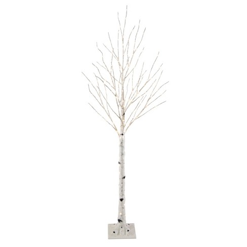 philips 5ft prelit artificial christmas slim birch twig tree warm white led dew drop lights