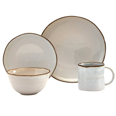 16pc Stoneware Geneva Dinnerware Set - Tabletops Gallery