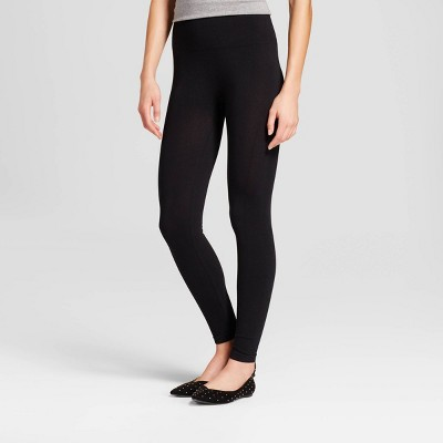 Women's High Waist Cotton Blend Seamless Leggings - A New Day™