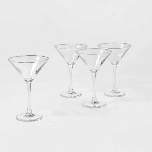 7.6oz 4pk Glass Modern Martini Glasses - Threshold™ - image 1 of 3