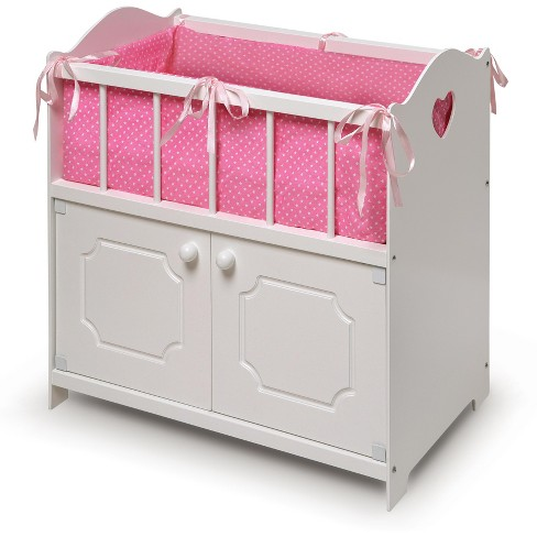 Badger Basket Storage Doll Crib - White - image 1 of 5