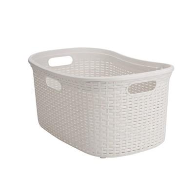 Mind Reader 40 Liter Laundry Basket, Ivory