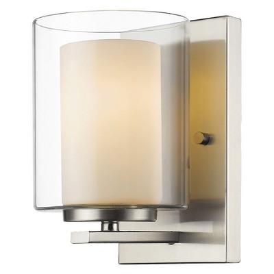 "1-Light 8"" Wall Light Sconce Brushed Nickel - Z-Lite"