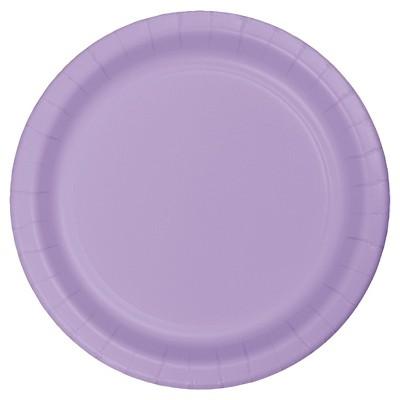 "Luscious Lavender Purple 7"" Dessert Plates - 24ct"