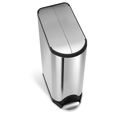 Simplehuman 45 Liter Butterfly Step Trash Can, Fingerprint-Proof Brushed Stainless Steel