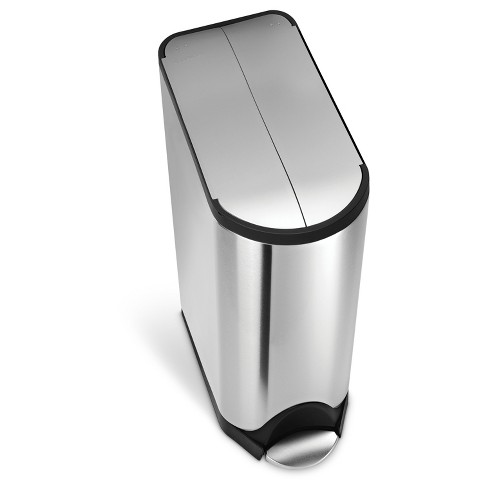 Simplehuman 45 Liter Butterfly Step Trash Can, Fingerprint-Proof Brushed Stainless Steel - image 1 of 3