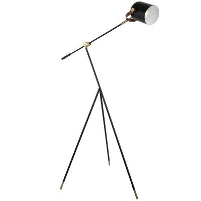 "68"" Hayward Tripod Floor Lamp Black/Gold - LumiSource"