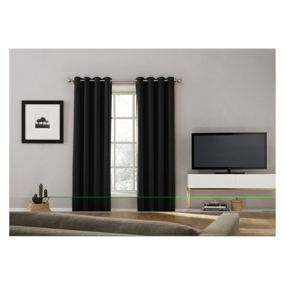 Oslo Grommet Top 100 Percents Blackout Window Curtain Panels   Sun Zero by Sun Zero