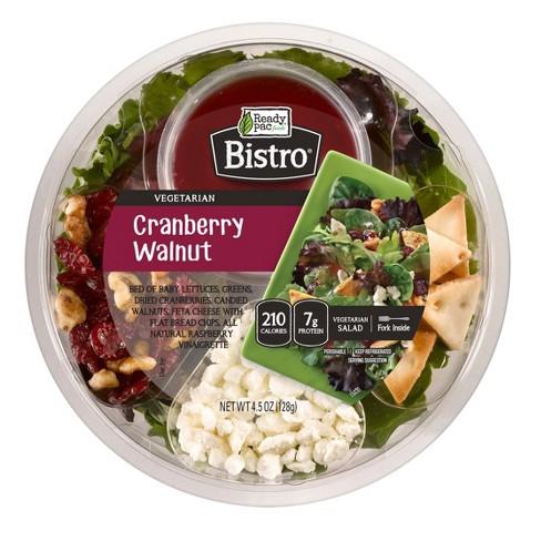 Ready Pac Bistro Cranberry Walnut Salad Bowl - 4.5oz - image 1 of 1