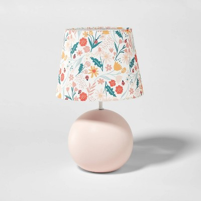 Round Base with Floral Shade Pink - Pillowfort™