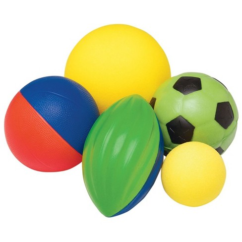 Kaplan Early Learning Foam Ball & Mesh Bag Set  - 5 balls - image 1 of 2